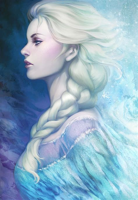 elsa painting frozen by artgerm on deviantart