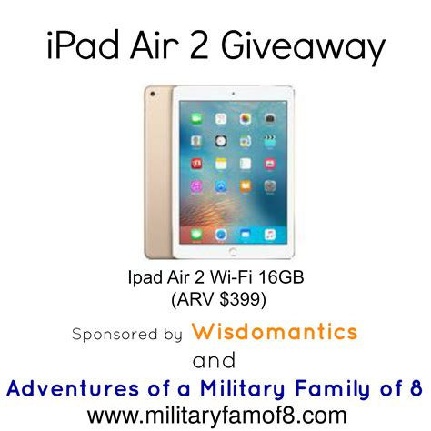 Ipad Air Giveaway - wisdomantics family game q a w creator and ipad air 2 giveaway adventures of a