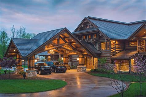 cabin style home plans discover lodge log home designs from pioneer log