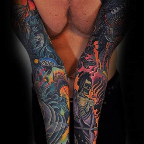 70 colorful tattoos for men vivid ink design ideas