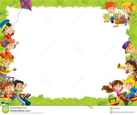 background design for kinder the framing for misc usage with people in different age