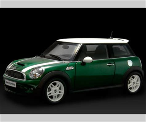 kyosho  mini cooper   stripes lhd green    scale mdiecast