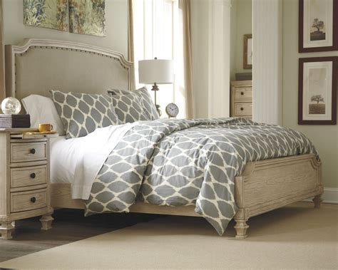 Mellina 6 King Bedroom Set by Demarlos Upholstered Panel Bed From B693 77