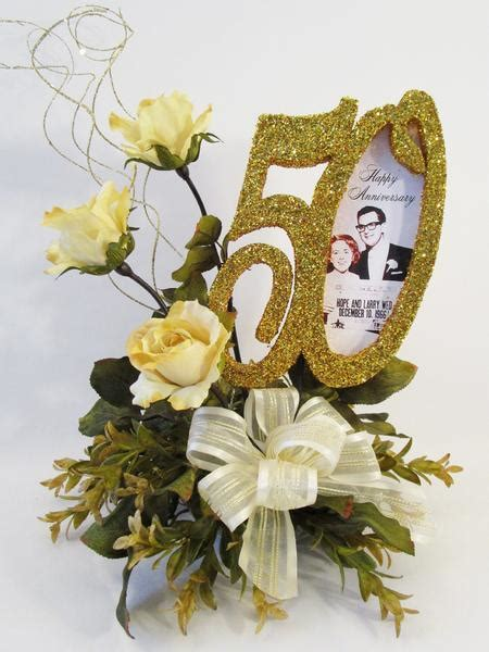 50th Anniversary Centerpiece with Roses or other year