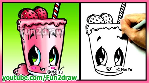 website where you can draw how to draw easy things fruit smoothie