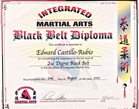 martial certificate templates free integrated warrior arts eskrima american kenpo dumog