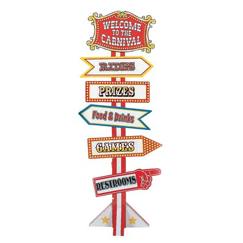 Circus Signs Template by Big Top Circus Carnival Directional Yard Sign