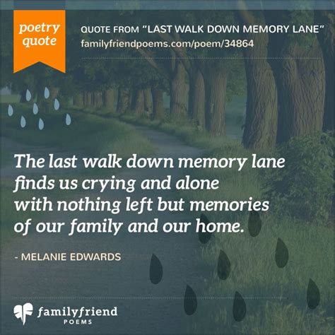 walk  memory lane divorce poem