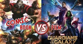 Comic book vs film guardians of the galaxy litreactor