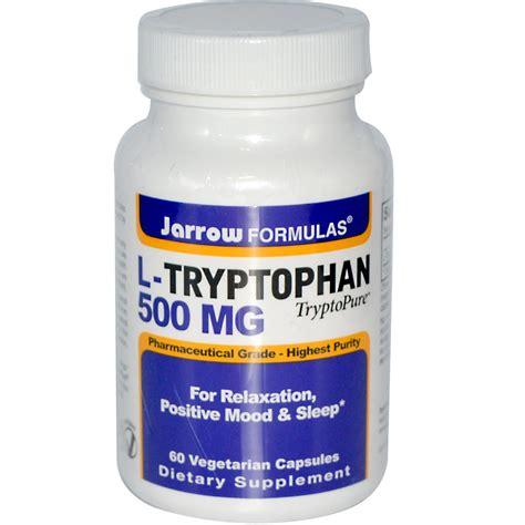 supplement l tryptophan jarrow formulas l tryptophan 500 mg 60 capsules iherb