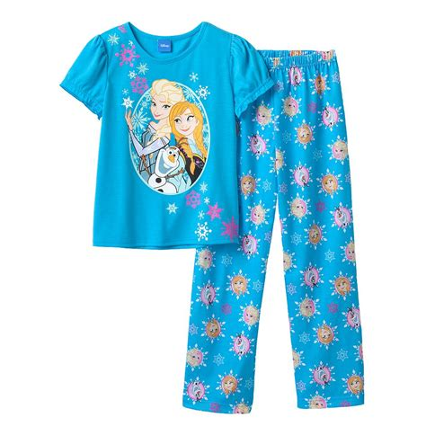 Pajamas Glow In The Snow Quenn Frozen Set 2in1 Baju Celana bemagical rakuten store rakuten global market disney disney usa products and the snow