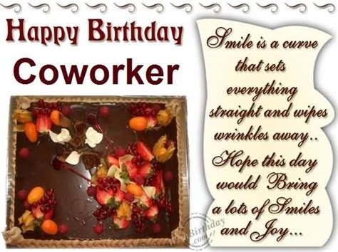Happy Birthday Wishes Coworker Birthday Wishes For Coworker Page 6