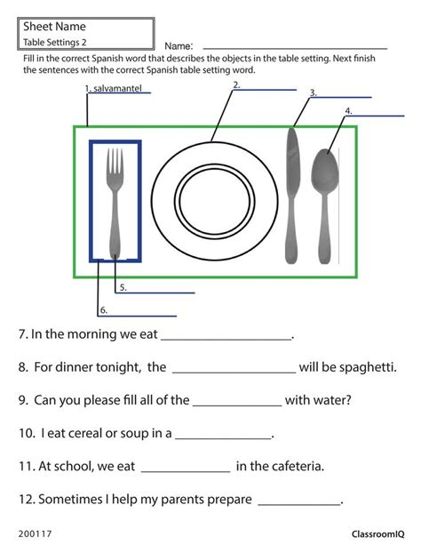 Spain Reminds Designers The Emaciated Look Is Out Cnncom by Table Setting Worksheet Spanishworksheets