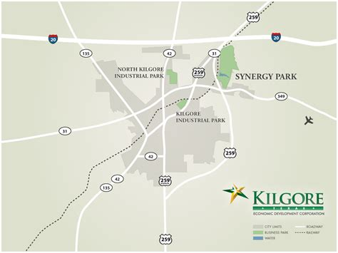 kilgore texas map highway access kilgore texas economic development corporation