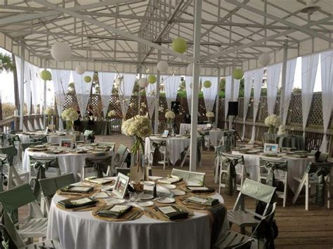 Sandpiper Deck Wedding . Décor, flowers and set up by