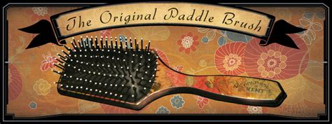 pattern paddle brush kent original paddle brush in floral gold foil effect