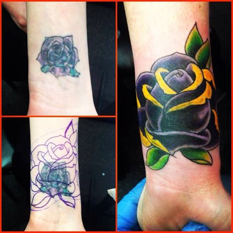 tattoo nightmares bad cover up purple rose tattoo cover up by a r t graduate bill aquino