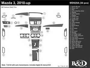 mazda 3 2010 2011 dash trim kit a ebay