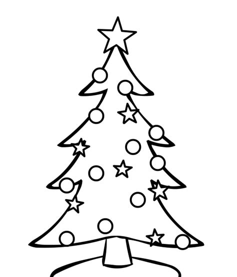 simple christmas tree coloring pages christmas tree line drawing cliparts co