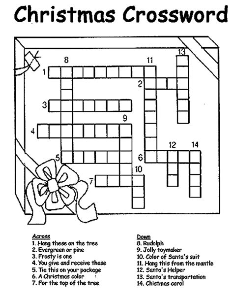 printable christmas crossword puzzles for adults printable christmas crossword puzzle crafts for the