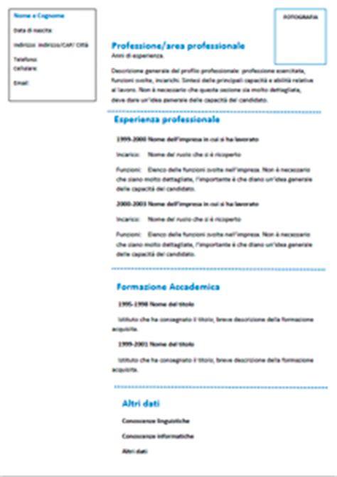 Modelo Curriculum Tematico esempi e modelli curriculum vitae joblers
