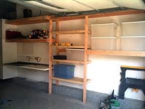 garage shelving designs woodwork how to build elevated wood shelving in garage pdf