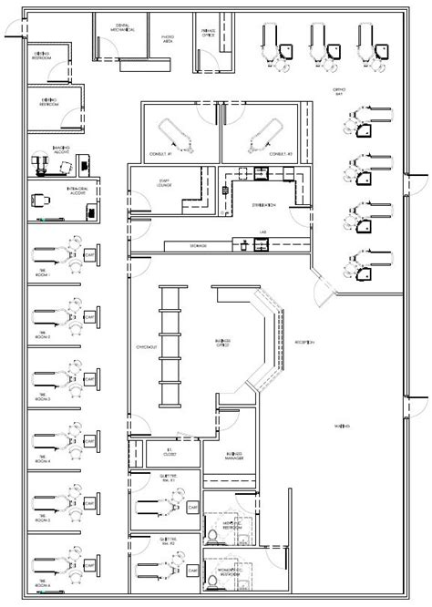 pin  david hashemi   dental office floor plans