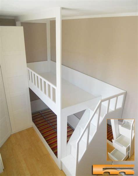 litera  escalera lateral  cajones  medida  habitacion infantil proyecto realizado