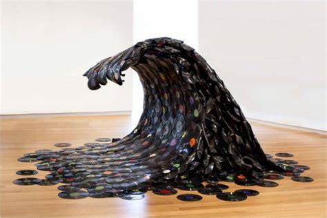 wanddeko mit schallplatten 20 handgemachte einzigartige schallplatten projekte