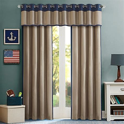 bed bath and beyond kids curtains mi zone kids liam window curtain panel and valance bed
