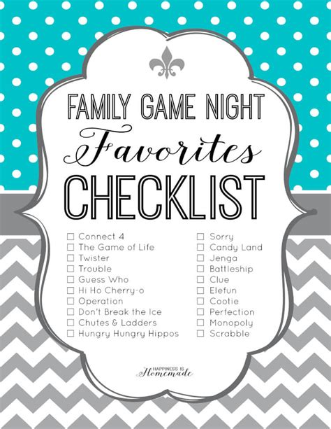 printable games for family family game night favorites checklist happiness is homemade