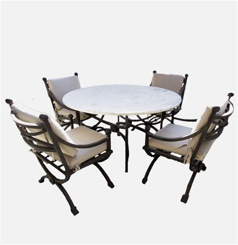 Patio Table And 4 Chairs Kreiss Patio Table With Four Chairs Ebth