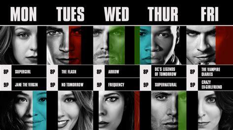 tv show 2016 2017 the cw d 233 voile son calendrier de s 233 ries du premier