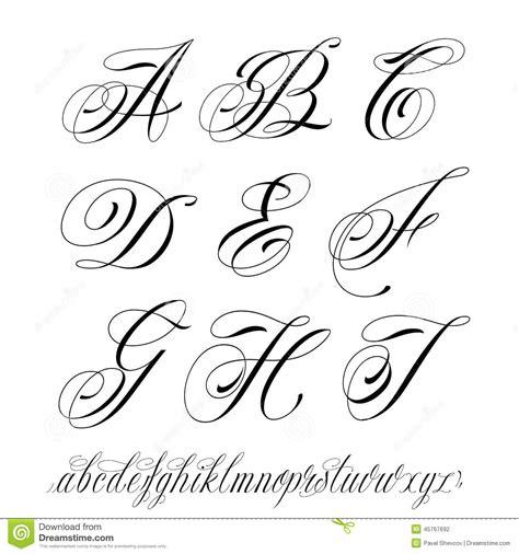 tattoo style alphabet stock vector image 45767692