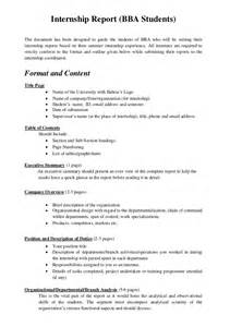 how to write a work report template internship report format