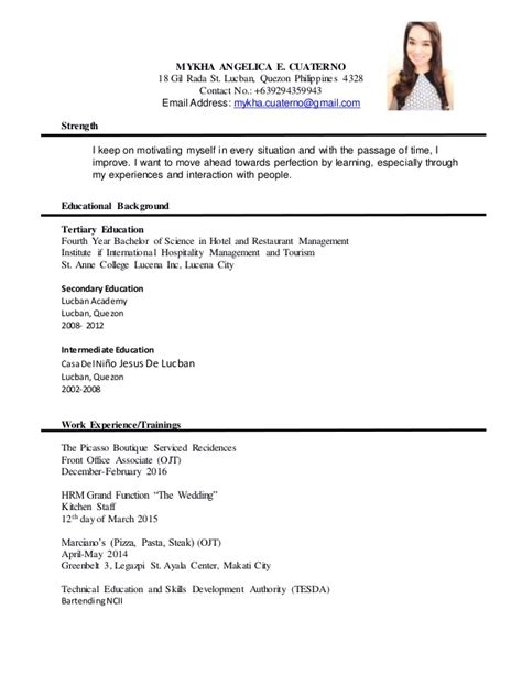 sle of formal resume 28 images sales resume sle free