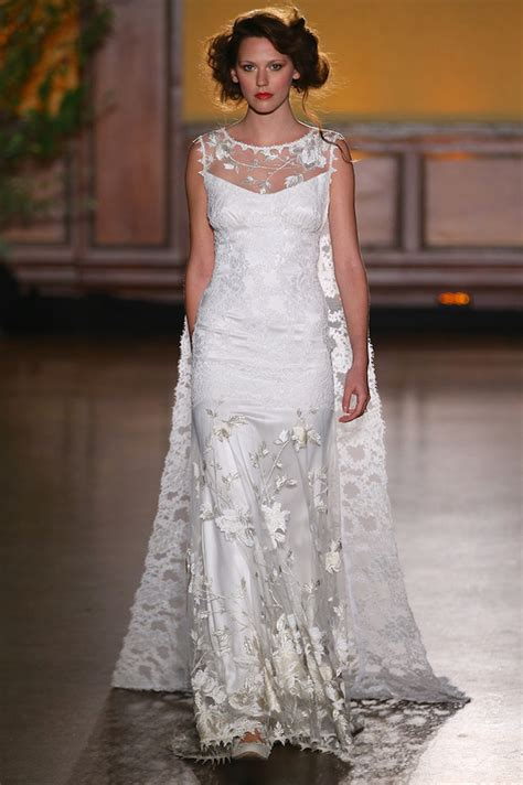 designer wedding dresses clare best of bridal fashion week pettibone wedding