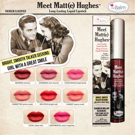 Sale The Balm Meet Matte Hughes New Shade Size Ori Usa 100 sale thebalm meet matt e hughes liquid lipstick lasting lip cosmetic