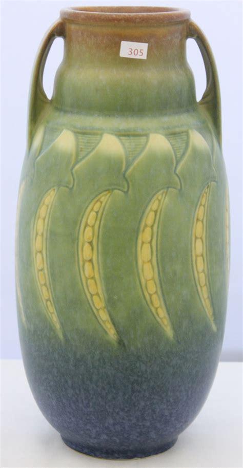 Antique Roseville Pottery Vases by Roseville Falline Vase Commands 1 500 Antique Trader