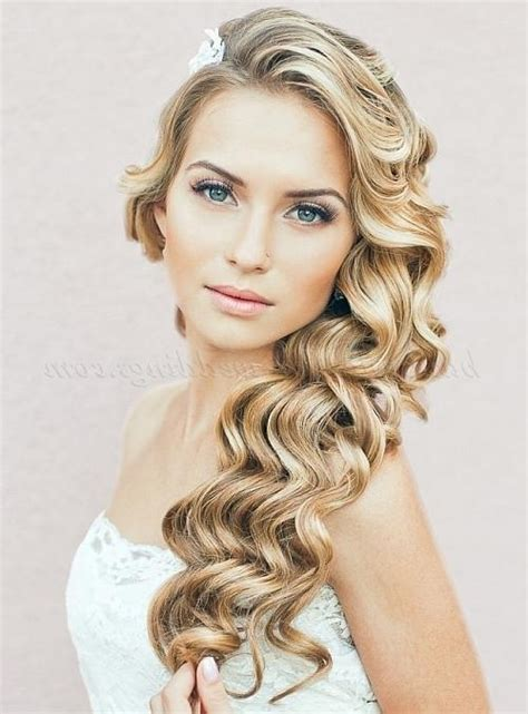 top 20 down wedding hairstyles for long hair deer pearl flowers 15 inspirations of long hairstyles down for wedding