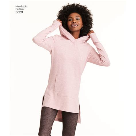 A Looka Looksome New Products by New Look Pattern 6529 Misses Knit Tunics And