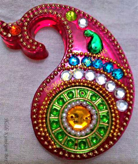 gruhapravesam gifts mayur arts crafts haldi kumkum box