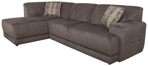 cole contemporary sectional sofa with left facing