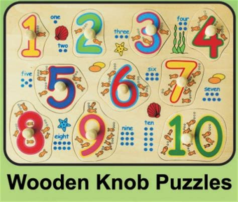 Wooden Knob Puzzles by Educational Toys Puzzles Posters And Other