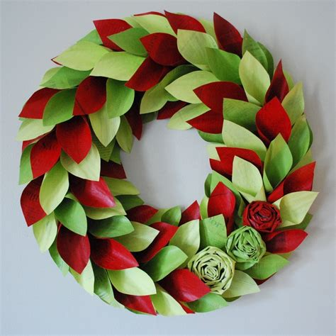How To Make Paper Wreaths For - paper wreath handmade wreaths are the