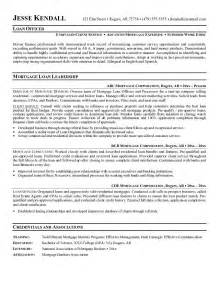 Ag Loan Officer Sle Resume by Mortgage Loan Officer Description Sle Recentresumes