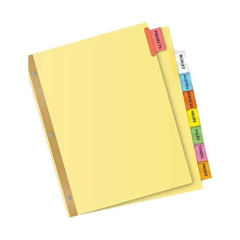 avery 8 tab template avery 11111 big tab insertable dividers 8 1 2 x 11 quot 8