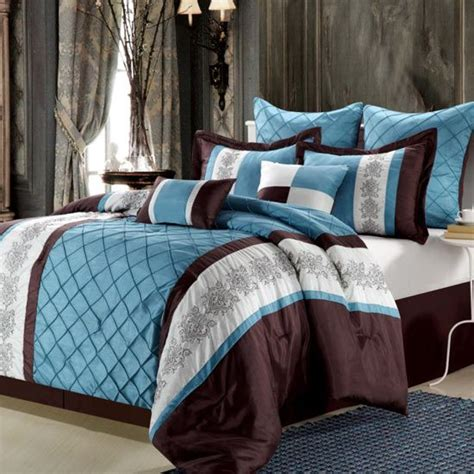 brown teal and white comforter set bedroom pinterest