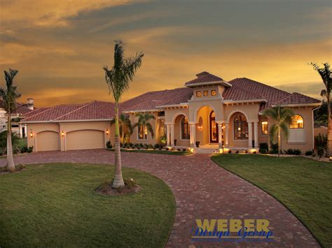Tuscan House Plan Villa Napoli House Plan Weber Design Group