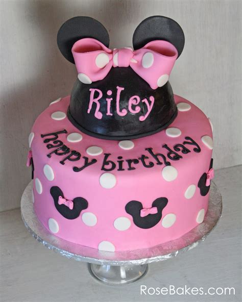Sairah Syari Pink pink minnie mouse birthday cake